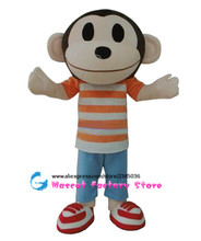 High quality monkey adult animal cartoon character costume mascot for kids birthday party