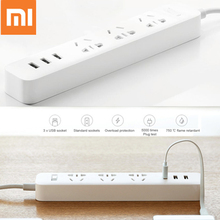 Original Xiaomi 3 USB Charging Ports Smart Adaptation Mini Power Strip 3 Socket 100 - 240V for Smart Phone Tablet PC Computer