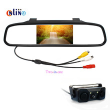 5 inch HD Rear View Mirror Monitor+For Toyota RAV4 Waterproof Car Rearview CMOS Camera Wide Angle Lens,Free Shipping