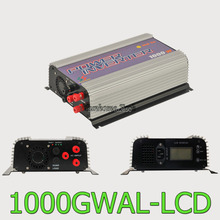 1000W LCD wind grid tie inverter with dump load,MPPT pure sine wave on grid inverter for 3phase AC wined turbine 22-60/45-90V