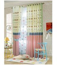 Free Shipping!Paul pastoral Mediterranean small fresh cotton embroidery room Curtain.