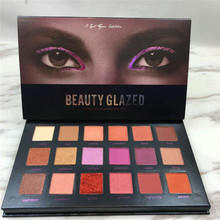 BEAUTY GLAZED Shimmer Matte Diamond Eyeshadow Plate Glitter Desert Dusk Kit Tutorial Professional  Makeup Eye shadow Cosmetics