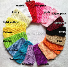 Environmental protection 7 cm crochet headband  South Korea with elastic hair band  tutu tube 30pcs/lot