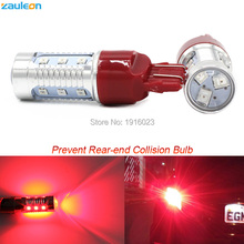 2pcs T20 7443 W21/5W Red LED Flashing Strobe Blinking Rear Alert Safety Brake Tail Stop Car Lights car-styling