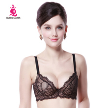 QueenMaker China New Brand Women's Sexy Black Lace Bra/Underwear/Brassier, FB247