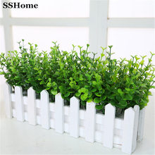 Plastic flower artificial flowers decorate the living room furnishings plants flower grass green leaves with Eucalyptus