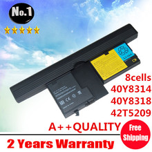 Wholesale New 8cells laptop battery FOR ThinkPad  X60 X61 Tablet PC Series  40Y8314 40Y8318  42T5209  42T5204  free shipping