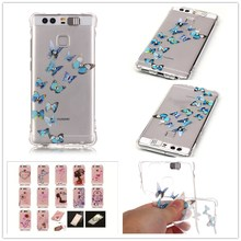 For HUAWEI P9 Case Shatter-resistant Gas cushion shining Case Luxury Diamond Jewelry transparent TPU case(China)