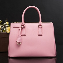 Pink Solid Handbag Luxury Women Designer Handbags Female Saffiano Leather Totes Handbags And Purses Women De Bag 2017 Summer New