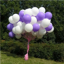12 inch 2.8g thicken good quality Latex Balloon Circle balloon Wedding Birthday Party Supplies 50pcs/lot Purple White