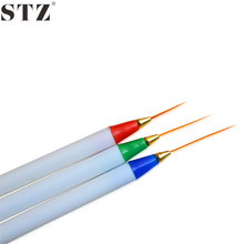 STZ 3pcs/set Nail Art Brushes Pen White Handle Soft Head Drawing Dotting Stripe Pattern DIY Creative Craft Nail Art Pen TR29