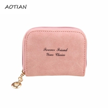 High Quality 5 Colors PU Leather Women Short Wallets Letter Print Wallet Mini Luxury Zipper Coin Purse Travel Wallet Feb23