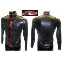 Latex shirt rubber coat long sleeves jacket 100% handmade latex top clothes for man Customize Service
