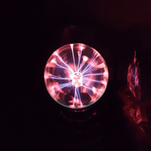 2017 USB Plasma Ball Electrostatic Sphere Light Magic Crystal Lamp Ball Desktop Lightning Christmas Party Touch Sensitive Lights(China)