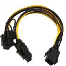 6-pin PCI Express to 2 x PCIe 8 (6+2) pin Motherboard Graphics Video Card PCI-e GPU VGA Splitter Hub Power Cable