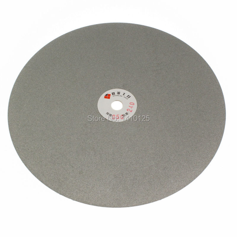 10 inch 250 mm Grit 240 Quality Electroplated Diamond coated Flat Lap Disk Grinding Polishing wheel Medium<br><br>Aliexpress