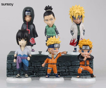 2015 New Naruto Figure Toys 6Pcs/Lot 9CM Cute Model Doll With Retail Box Naruto Action Figure Set High Quality Best Kids Gift(China)