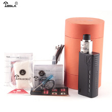 Original Tesla Terminator 90W Kit with One hi drain 18650 battery Zinc alloy Box Mod 0.10 ohms Min Atomizers charging protection