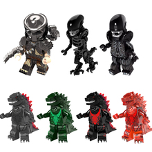 Buy Super Heroes American Science Fiction Monster Movie Godzilla Predator Alien Dolls Building Blocks Children Christmas Toys Gift for $1.16 in AliExpress store