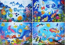 63 Pieces Puzzles Child kid Paper Sea Animal World Cartoon Plane Puzzle Baby Intellectual Toy adult jigsaw puzzles Free Shipping