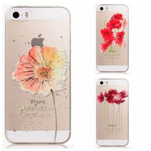 Case For iphone 5 5s SE Trendy Girls Soft Silicone Phone Cover Painting Colorful Flower Back Bag Protection Skin Fundas Coques(China)