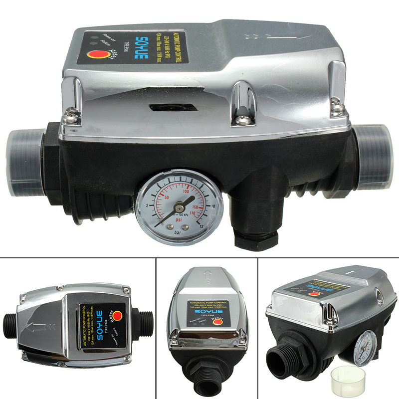 220V 1.1KW Automatic Pump Pressure Switch Controller Electronic Switch Control For Water Pump Pressure Switch Mayitr<br>