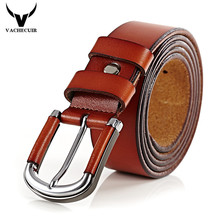 VACHECUIR 2017 New Brand Belts Luxury Mens Leather Pin Buckle Original Cowskin Jeans Straps Vintage Designer W3 - Store store