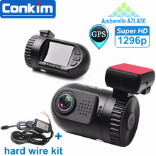 Original Mini 0805 Full HD Video Recorder Car Camera DVR Ambarella A7LA50 1080P 1296P HDR SOS+GPS G-sensor ADAS w/ Hard Wire Kit