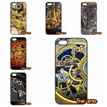 Vintage Cool Watch Mechanism Mobile Phone Cases Covers For iPhone 4 4S 5 5C SE 6 6S 7 Plus Galaxy J5 A5 A3 S5 S7 S6 Edge