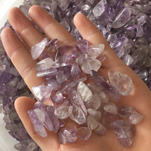 Natural pure amethyst Crystal gravel mineral purify degaussing Fish tank Ornamental Specimen collection geological teaching(China)