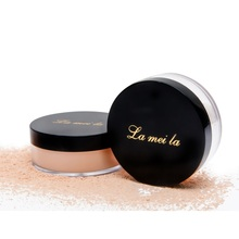 Loose Powder Waterproof Matte Setting Powder with Puff Long Lasting Concealer Light Powder Mineral Makeup