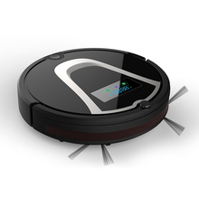 Eworld M884 Vacuum Cleaner Smart Sweeping Rechargeable Robot Vacuum Cleaner Remote Controlled Automatic Dust Home Cleaner Black