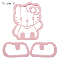 Facemile Cute KT CAT Shape Mold Sugar Arts Set Fondant Gift Tools/Cookie Cutters Hello Kitty Cake Mold 04023