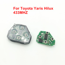 Car Key Remote Control Fit for Toyota 2, 3, 4 Buttons Remote Key 433MHz, For Toyota RAV4 CAMRY YARIS HILUX COROLLA