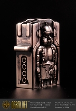 OGRM Silver Crafts H.R. Giger Goggle Baby 925 Silver Cigarette Lighter Oil Fat Boy Torch Windproof Jet Lighter