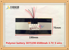 3.7V 6500mAH 3075190 PLIB (polymer lithium ion battery) Li-ion battery for tablet pc battery Rechargeable batteries