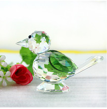 4Color Crystal Magpie Bird Ornaments Glass Paperweight Feng Shui Animal Figurines Wedding Home Birthday Party Decor Crafts Gifts
