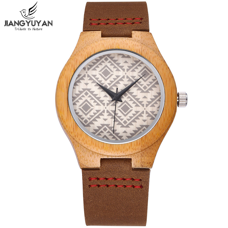 Female Retro Handmade Natural Wooden Watch Women Brand Fashion Dress Ladies Wood Watches Genuine Leather Relogio Feminino reloje<br>