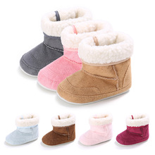 Fashion Infant Toddler Baby Girl Winter Boots First Walkers Shoes Anti-slip Soft Bottom Super Warm Kids Booties Footwear Bebe