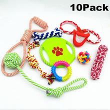 4 5 6 8  Dog's Chew Toys Rope Flying Discs Knot Pets Puppy Chew Braided Tug Toy Small Large Dogs Bait Toys Pet Training Product