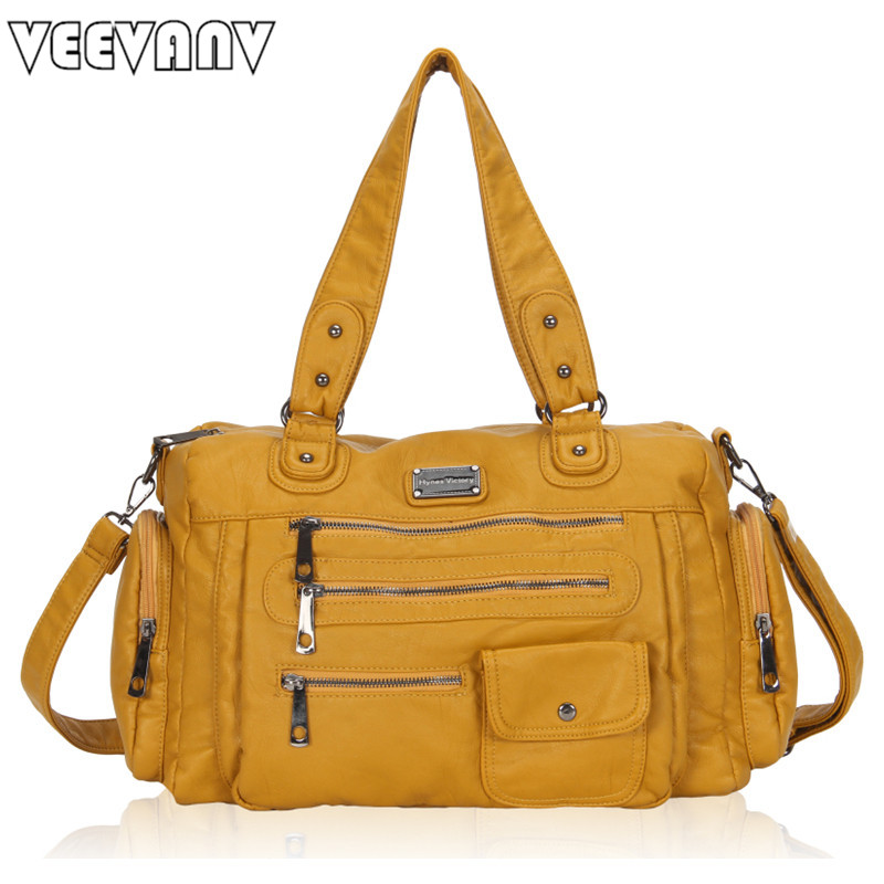 VEEVANV 2018 Women Handbag Messenger Bag High Quality Leather Shoulder Bag Office Lady Tote Handbag Fashion Crossbody Bag Female<br>