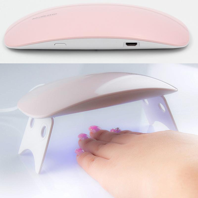 1pcs 6W UV Nail Lamp Portable Nail Treatment Dryer LED Lamp With Timer Perfect Thumb Solution Polish Gel Curing Nails Art Tools 11