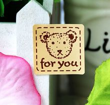 "160pcs/lot decorative stickers yellow teddy bear ""for you""sealing tag baking package cake box decoration"