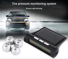 TPMS Car Tire Pressure Monitoring System TP880 LCD Display 4 External Sensors Auto Alarm System Solar Energy Diagnostic Tool