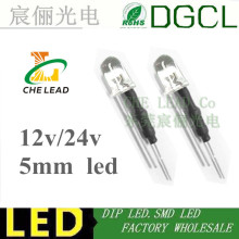 100pcs 5mm DIP LEDs DIODE Bulb with resistance Warm white/Red/Green/Blue/Yellow/White/Pink 12V/24V LED Lamp LED LIGHTING