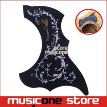 "Alice Acoustic Guitar Pickguard A025M  R54mm Black Color Vine Pattern For 36"" 37"" 38"" 39"" Guitarra Small Size Pick Guard"