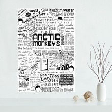 Classical Custom Arctic Monkeys Canvas Painting Poster Cloth Silk Fabric Wall Art Poster for Home Decor