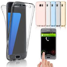 360 Full Case For S8 Plus A3 A5 J3 J5 J7 Prime 2016 Smart Touch Screen Clear TPU Soft Silicone Case For Samsung Galaxy S7 Edge