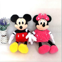 2pcs/lot 28cm Minnie and Mickey Mickey Mouse Super Doll Baby Toy  Stuffed Animals Kawaii Toy For Children's Gift