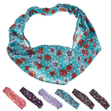 1Pc Cute Casual Print Flower Women Hair Accessories Stretch Hairbands Girls Headwear Head Wrap Band Hair Bandanas 2017 Brand New